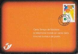 MOBISTAR CARTE TEMPO - PUBBLICITA' POSTE BELGHE  - NUOVA - Advertising