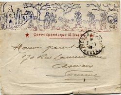 FRANCE LETTRE ILLUSTREE  CORRESPONDANCE MILITAIRE DEPART TRESOR ET POSTES 3-11-17 * 203 * POUR LA FRANCE.... - Marcophilie (Lettres)