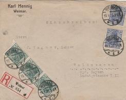 Allemagne Lettre Recommandée Weimar 1920 - Briefe U. Dokumente