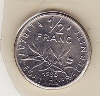 FDC 1/2 Francs -- 50 Centimes -- Semeuse 1980 -- Scellé -- Côte 30 € -- Fleur De Coins - France