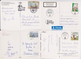 ALAND - Beau Lot Varié De 50 Enveloppes Et Cartes Postales Timbrées Et Voyagées - Mail Covers Picture Postcards Stamps - Aland