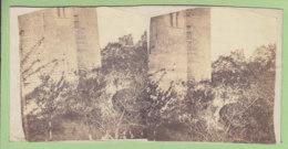 NOGENT LE ROTROU Vers 1860 - 1870 : Ruines Du Château, Le Pont. Photo Stéréoscopique. 2 Scans. - Photos Stéréoscopiques