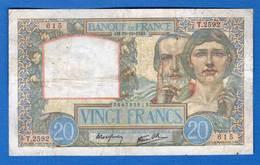 20  Fr  Du  19/12/1940 - 1871-1952 Circulated During XXth