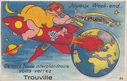 ¤¤  -  TROUVILLE   -  Carte à Système   -   Fusée , Terre , Mars   -  ¤¤ - Trouville