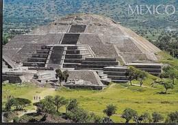 MESSICO - PIRAMIDE DE LA LUNA - VIAGGIATA 2001 FRANCOBOLLO ASPORTATO - Messico