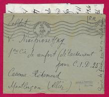 Trois Correspondances En Franchise Militaire Datées De Juin 1940 - Voyagées à Destination De Montluçon Dans L'Allier - Marcophilie (Lettres)