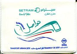Tramway De Sétif (Algérie) - Pochette Spéciale + Ticket - Tram