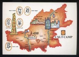 *Alt Camp* Congrés Cultura Catalana 1977. Campanya Identificació Del Territori. Nueva. - Mapas