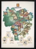 *Osona* Congrés Cultura Catalana 1977. Campanya Identificació Del Territori. Nueva. - Mapas