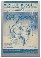 Musique ! Musique ! Musique ! Fox Trot Du Film Ufa Allo Janine De 1939 - Compositeurs De Musique De Film
