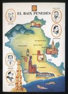 *El Baix Penedès* Congrés Cultura Catalana 1977. Campanya Identificació Del Territori. Nueva. - Mapas