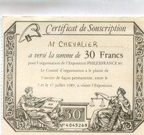 SOUSCRIPTION A L EXPOSITION PHILEXFRANCE - Non Classés