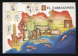 *El Tarragonès* Congrés Cultura Catalana 1977. Campanya Identificació Del Territori. Nueva. - Mapas