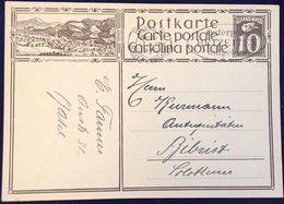 "Schweiz Suisse 1930: Bild-PK / CPI ""LUFTKURORT MOGELSBERG"" O BASEL 17.VI.1930 Nach Biberist (SO) - Interi Postali"