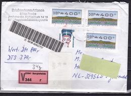 Deutschland 1997 Lakierte Wertbrief Nach Holland Valeur V344 Bilder Anschauen Bitte - Storia Postale