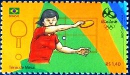 BRAZIL 2015 - Olympic And Paralympic Games - Rio 2016  - TABLE TENNIS  - MNH - Brasil