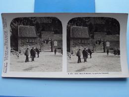 MONT-ST-MICHEL : La Porte De L'Avancée : S. 201 - 4222 ( Maison De La Bonne Presse VUES De FRANCE ) Stereo Photo - Stereoscopic