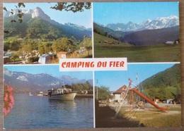 ALEX  (74). MULTIVUE SUR LE CAMPING DU FIER. ANNEES 1970-80.TBE. - Autres Communes