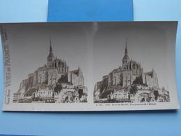 MONT-ST-MICHEL : Vue Générale De L'Abbaye : S. 201 - 4221 ( Maison De La Bonne Presse VUES De FRANCE ) Stereo Photo - Photos Stéréoscopiques