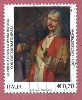 ITALIA REPUBBLICA USATO - 2013 - 400º Anniversario Della Nascita Di Mattia Preti - € 0,70 - S. 3379 - 2011-...: Afgestempeld