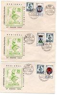 Serie Completa De Escudos (57 Sobres) Con Sello Plan Sur Y Sobres Commemorativo 1 Exposicion Valencia. - 1961-70 Lettres