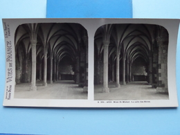 MONT-ST-MICHEL : La Salle Des Hôtes : S. 201 - 4230 ( Maison De La Bonne Presse VUES De FRANCE ) Stereo Photo - Stereoscopic