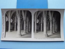 MONT-ST-MICHEL : Salle Des Chevaliers : S. 202 - 4240 ( Maison De La Bonne Presse VUES De FRANCE ) Stereo Photo ! - Stereoscopic