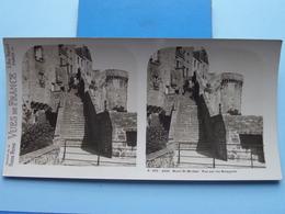 MONT-ST-MICHEL : Vue Sur Les Remparts : S. 202 - 4235 ( Maison De La Bonne Presse VUES De FRANCE ) Stereo Photo ! - Stereoscopic
