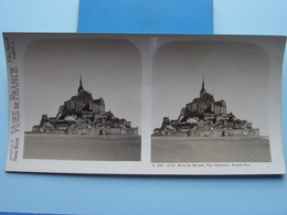 MONT-ST-MICHEL : Vue Générale. Façace Est : S. 202 - 4232 ( Maison De La Bonne Presse VUES De FRANCE ) Stereo Photo ! - Stereoscopic
