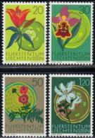 LIECHTENSTEIN - Scott #446@469 Native Flowers / Colmplete Set Of 3 Mint NH Stamps (K0036) - Liechtenstein