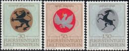 LIECHTENSTEIN - Scott #462@464 Arms / Colmplete Set Of 3 Mint NH Stamps (K0255) - Liechtenstein