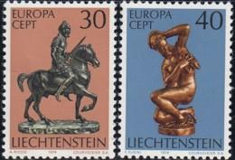 LIECHTENSTEIN - Scott #543-544 Europa '74 / Colmplete Set Of 2 Mint NH Stamps (K0309) - Liechtenstein