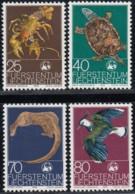 LIECHTENSTEIN - Scott #583-586 World Wildlife / Colmplete Set Of 4 Mint H Stamps (K0033) - Liechtenstein