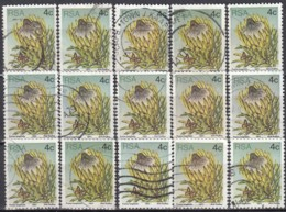 SOUTH AFRICA - Scott #478 Sugarbush / Used 15 Stamps (K0652) - South Africa (1961-...)