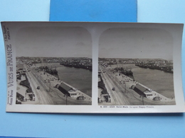 SAINT-MALO : Le Quai DUGAY-TROUIN : S. 203 - 4249 ( Maison De La Bonne Presse VUES De FRANCE ) Stereo Photo ! - Stereoscopic