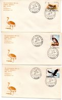 3 Cartas  Con Matasellos Commemorativo  VI Congreso Union Iberica De Zoos - 1931-Hoy: 2ª República - ... Juan Carlos I