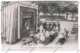 Lot 2 Cpa Animée SAINT MANDE (94) : Une Représentation Au Guignol (théâtre) Et La Voiture Aux Chèvres - Saint Mande