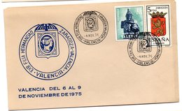 Carta Con Matasellos Commemorativo  Exposicion Filatelica Hermandad Zaragoza-valencia. - 1931-Hoy: 2ª República - ... Juan Carlos I