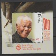 Kenya Kenia 2018 Mi. ? S/S Joint Issue PAN African Postal Union Nelson Mandela Madiba 100 Years - Joint Issues