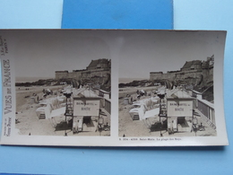 SAINT-MALO : La Plage Des BEYS : S. 204 - 4259 ( Maison De La Bonne Presse VUES De FRANCE ) Stereo Photo ! - Photos Stéréoscopiques
