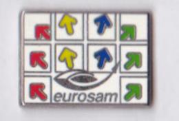 Pin's Eurosam Aérospatiale MBDA Thales Zamak émail, Signé Pichard - Space
