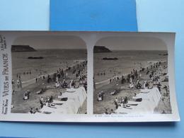 SAINT-MALO : La Plage Des BEYS : S. 203 - 4250 ( Maison De La Bonne Presse VUES De FRANCE ) Stereo Photo ! - Stereoscopic