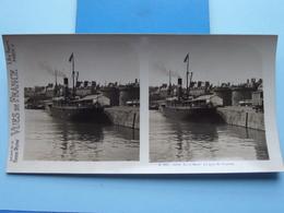 SAINT-MALO : Le Quai St. Vincent : S. 204 - 4263 ( Maison De La Bonne Presse VUES De FRANCE ) Stereo Photo ! - Stereoscopic
