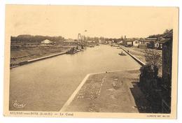 Cpa: 93 AULNAY SOUS BOIS (ar. Le Raincy) Le Canal (Bateaux Grue)  1937  CIM (Plan Rare) - Aulnay Sous Bois