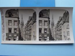 SAINT-MALO : La Grande Rue Et La Cathédrale : S. 203 - 4254 ( Maison De La Bonne Presse VUES De FRANCE ) Stereo Photo ! - Stereoscopic