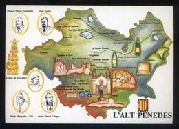 *L'Alt Penedès* Congrés Cultura Catalana 1977. Campanya Identificació Del Territori. Escrita. - Mapas
