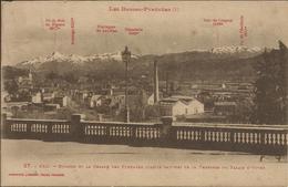 PAU , Bizanos Et La Chaîne Des Pyrénées ( Partie Gauche ) De La Terrasse Du Palais D' Hiver , 1929 - Pau