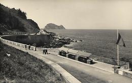 Photograph Postcard, Spain, Zarauz, Zarautz, Mirador Y Ratonde Guetaria, Veranda Et Souris De Guetaria. Coastal View. - Guipúzcoa (San Sebastián)
