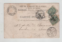 Généalogie  Carte Précurseur 1903 Bernard Boucher Semur En Auxois Galimard Fabricant Abbaye De Flavigny Vieux Pont - Généalogie