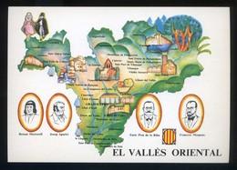 *El Vallès Oriental* Congrés Cultura Catalana 1977. Campanya Identificació Del Territori. Nueva. - Mapas